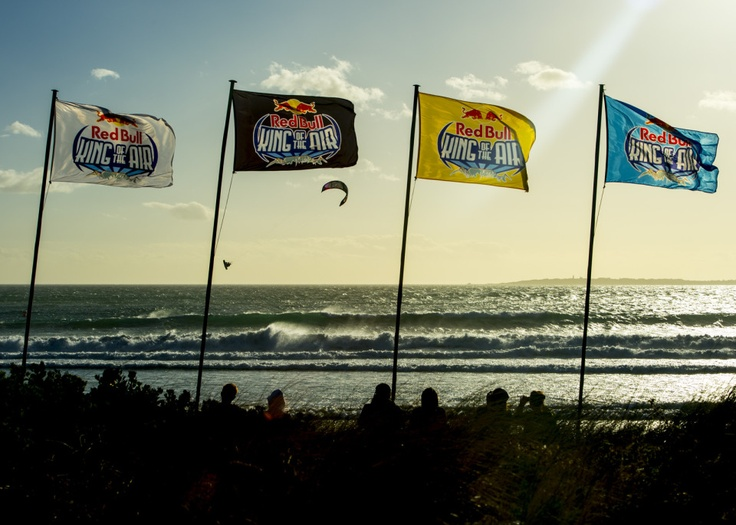 Flags for Red Bull King of the Air, Big Bay, Feb 2013