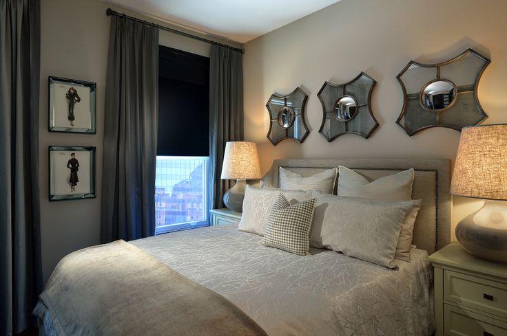 Client bedroom designed by Glen & Jamie from Peloso Alexander Interiors. #bedroom #GlenandJamie #design #bed #art