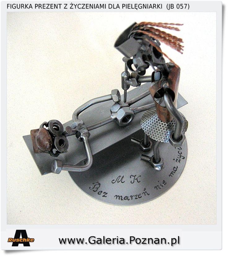 Figurka metalowa z grawerem