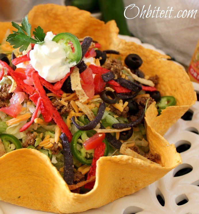 how to make fried taco salad bowls