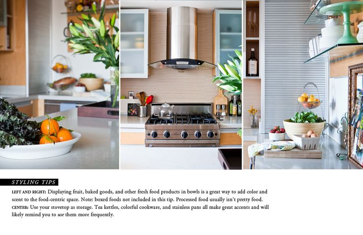 Who knew you even needed this? Love these pointers! theeverygirl_how to style kitchen counters