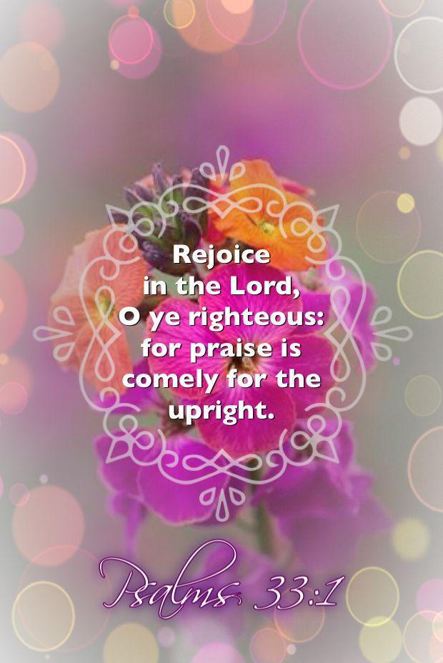 Psalms 33:1 KJV