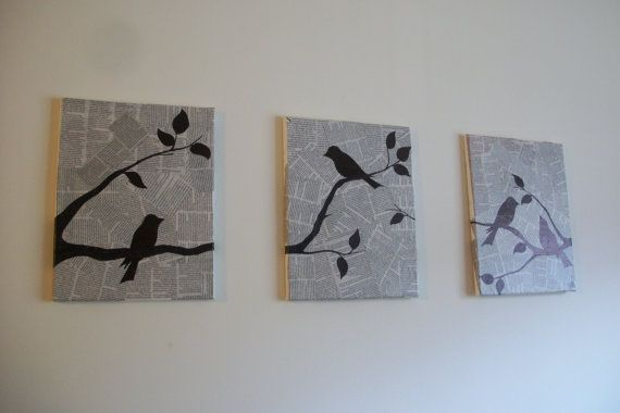 17 best ideas about bird branch on pinterest oxidized for Best brand of paint for kitchen cabinets with cross stitch wall art