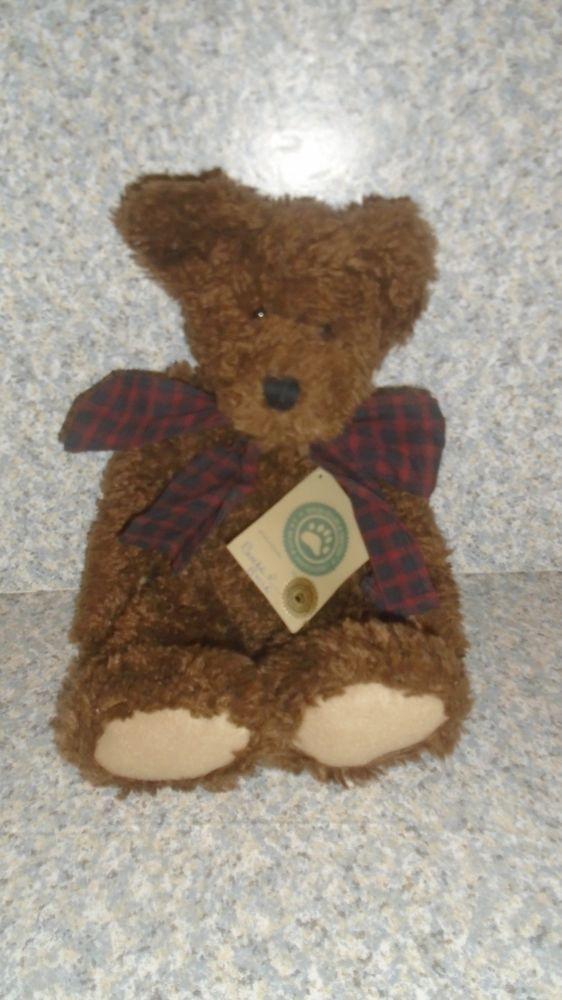 "Boyds Bears Burke P. Bear 14"" Brown Fully Jointed  Bear #Boyds"
