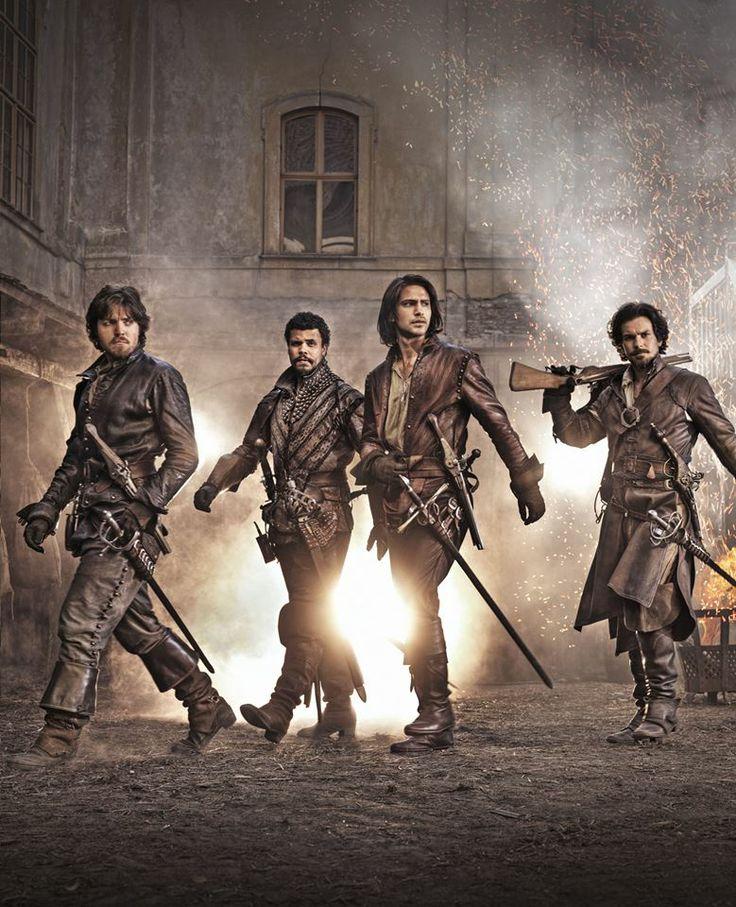 #TheMusketeers, coming 2014 to BBC One. Meet: Athos (TOM BURKE), Porthos (HOWARD CHARLES), D'Artagnan (LUKE PASQUALINO) and Aramis (SANTIAGO CABRERA). YES.