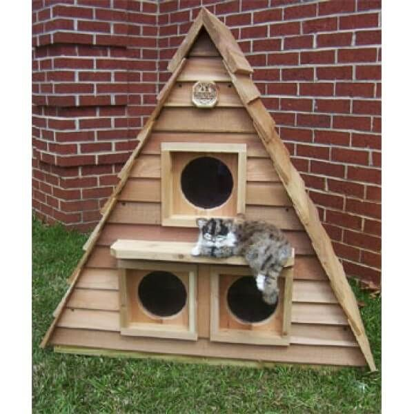 Cat House Plans Instructions For Kitty Home Construction Projects Cat House Plans Heated Cat House Outside Cat House