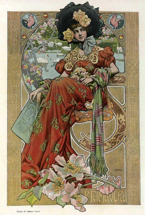 Spring - Illustrated by Gaspar Camps, 1903