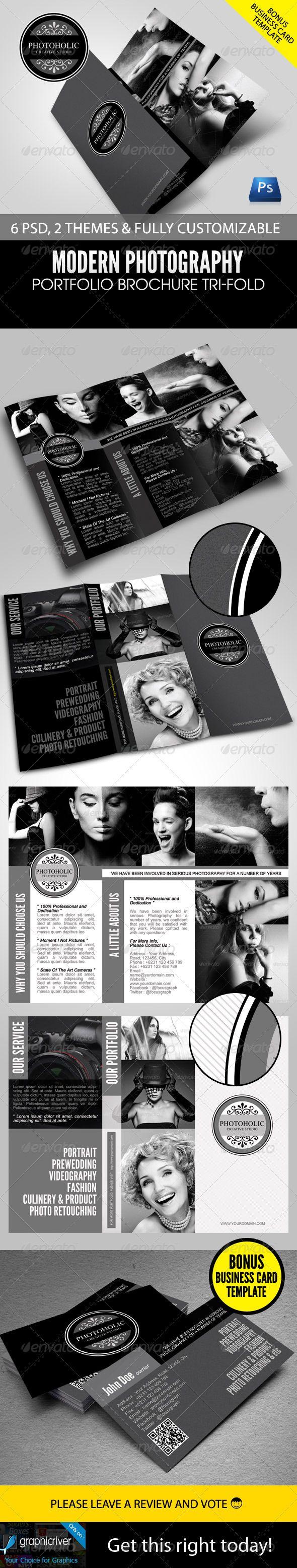 Modern Photography Portfolio Tri-Fold Brochure