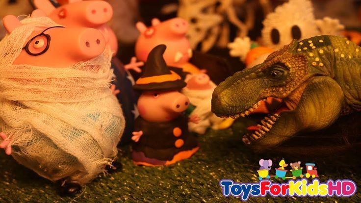 Peppa la Cerdita en El Parque de los dinosaurios para niñosPeppa Pig HalloweenVideos dePeppa Pig