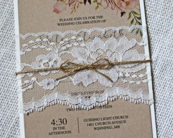 Waterolor Floral Wedding Invitation Rustic por LoveofCreating