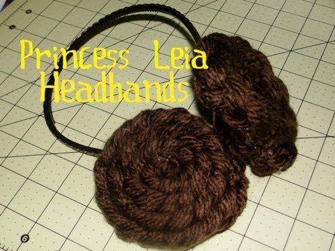 ▶ How to Make Princess Leia Headbands - YouTube