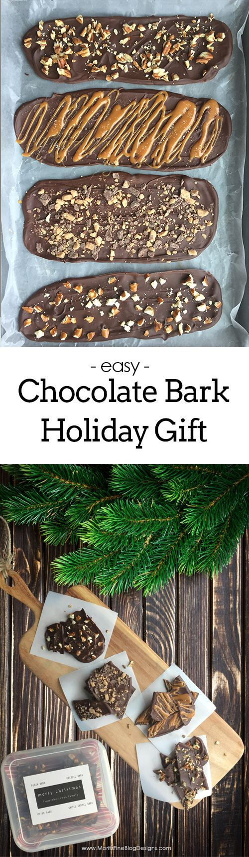 Chocolate Bark Holiday Gift Idea via @moritzdesigns