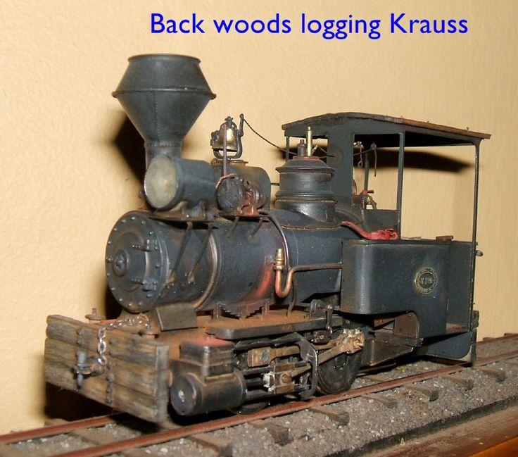 Backwoods logging locomotive