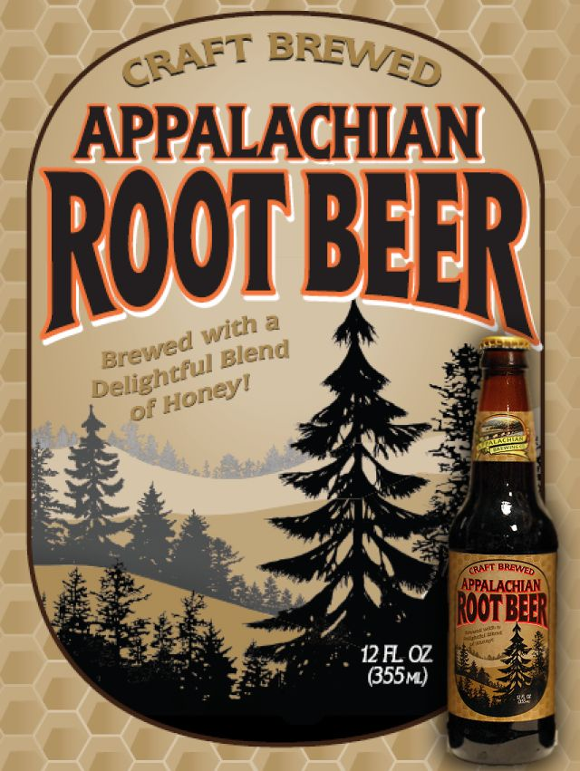Appalachian Brewing Co. Available in Draft & Bottles – 24/12oz per case Our original Root Beer is brewed with pure cane sugar, a touch of vanilla and a delightful blend of honey. Truly tastes like old fashioned, home made root beer thanks to wholesome ingredients. Appalachian Root Beer is a caffeine and gluten free craft soda. We hope you enjoy drinking it as much as we enjoy brewing it! #CraftSoda #Rootbeer