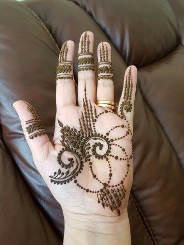 A simple Freedom Friday Henna Design with Dots and Swirls ...