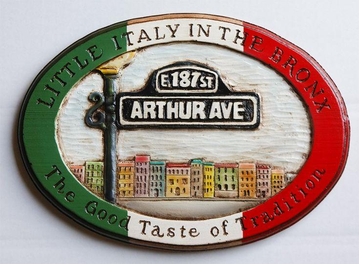 Cerini Coffee & Gifts Arthur Avenue Logo Wall Plaq