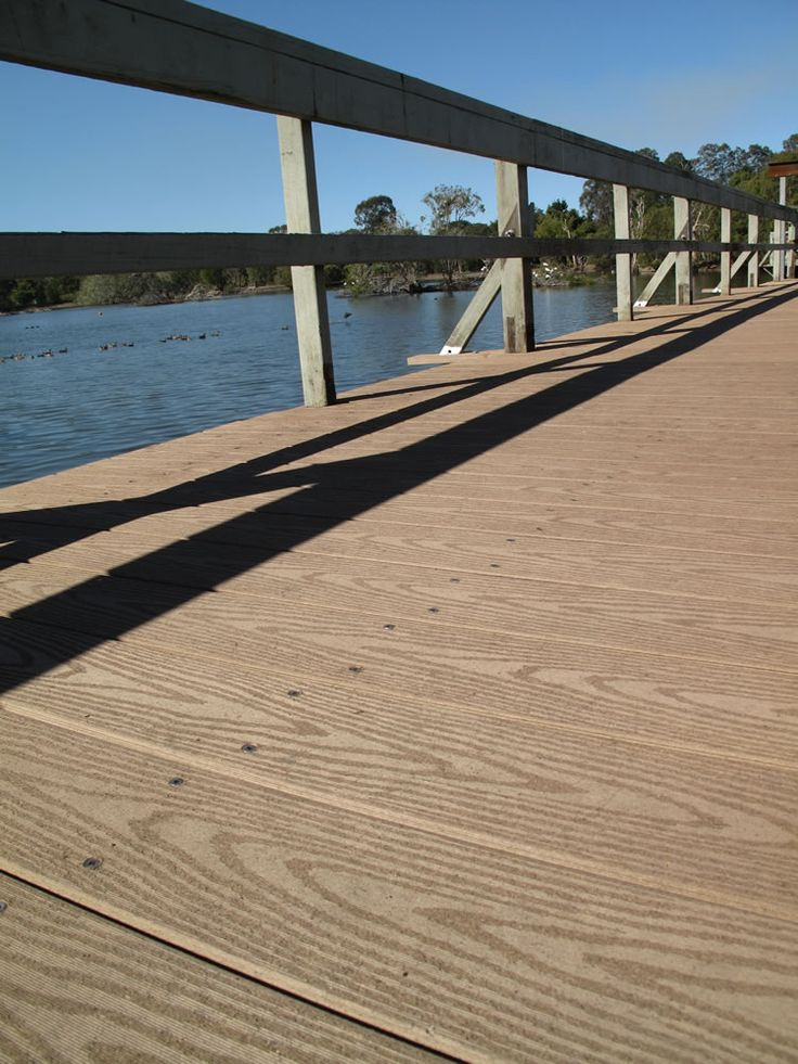Latitudes Marine by Urbanline #composite #wpc #woodplasticcomposite #compositewood #deck #decking #compositedecking #bridge #river