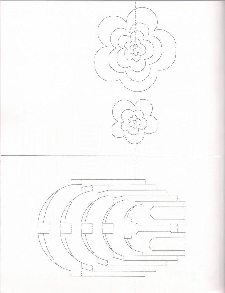 270 best papierarchitektur images on pinterest paper for Kirigami paper art