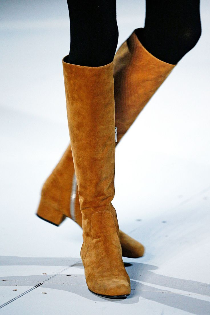 Fall 2015 Early Trends - Knee high suede boots   These boots are made for walking,and that's just what they'll do