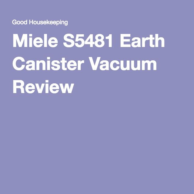 Miele S5481 Earth Canister Vacuum Review Con Expensive : Pro: best for floors and overall