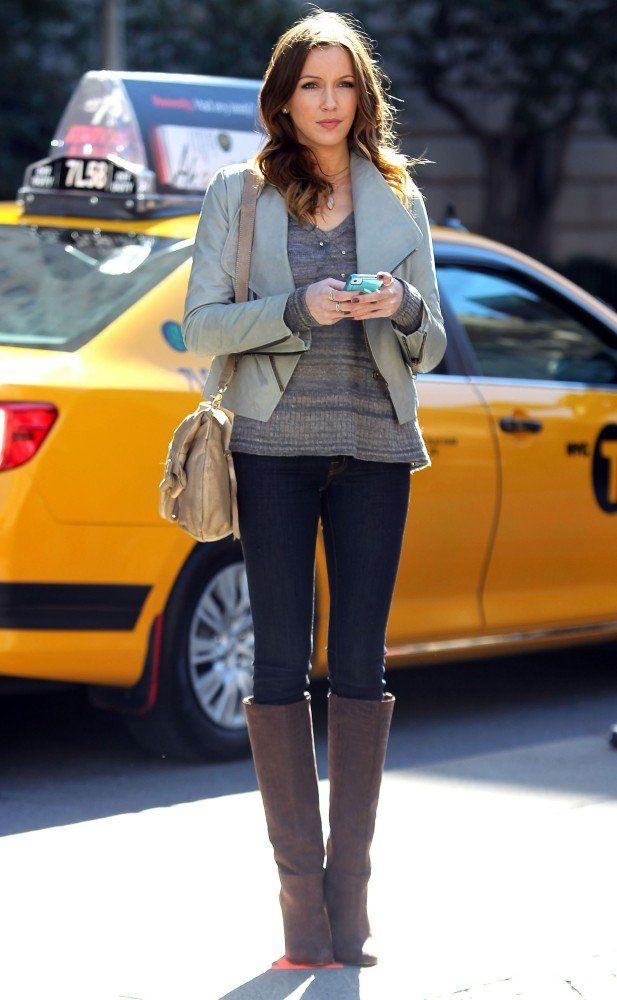 "Cute fall outfit (Katie Cassidy as Juliet Sharp on ""Gossip Girl,"" Season 6)"