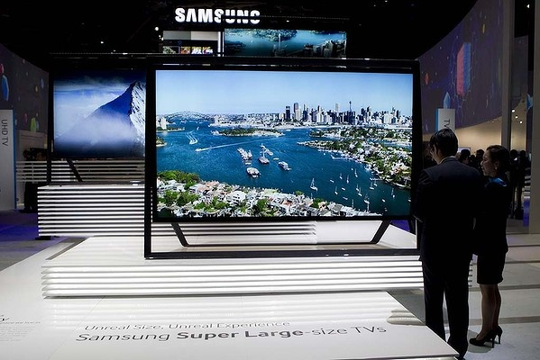 """Samsung's ultra-HD TV """"Timeless Gallery"""" televisions."""