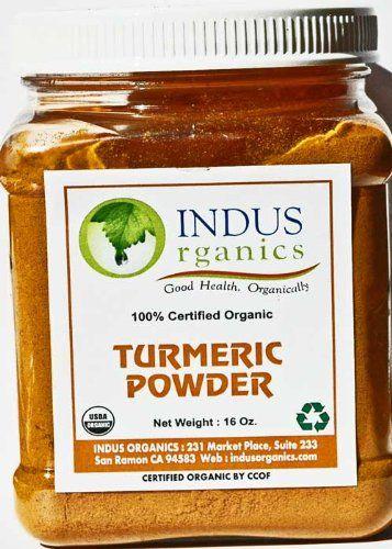 Indus Organic Turmeric (Curcumin) Powder Spice Pack 1 Lb, High Purity, Freshly Packed