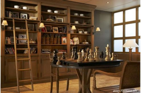Flamant Library Balmore at Copper Strawberry, importing Flamant to the USA. Chess Set Flanders by Flamant.