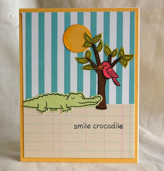 gatorSmile Crocodile, Cards Ideas, Lawns Fawns, 02Greet Cards, 02 Greeting Cards, Lawn Fawn, Gator, May12 Smilecroc Teri, Fawns Cards