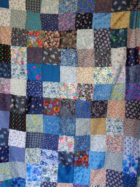 Multicolour patchwork cover handmade quilt by Aliki01 on Etsy