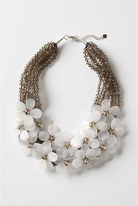 fashion necklace flower necklace - anthropologie
