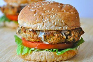 Eggplant Burger, Healthy Party