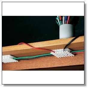Under desk computer cable organizer this black cablox - Desk cord organizer ...