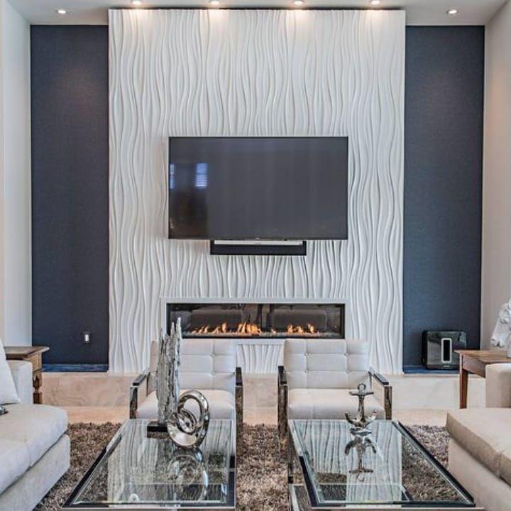 Wall Panel 3d Panel Dinding 3 Dimensi Adalah Terobosan Terbaru Dalam Dunia Dekorasi Feature Wall Living Room Living Room Fireplaces 3d Wall Panels Living Room