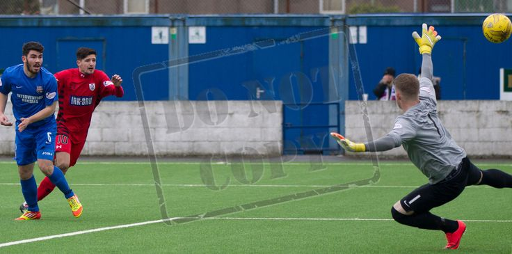 Queen's Park's Paul Woods opens the scoring during the SPFL League Two game between Montrose and Queen's Park.