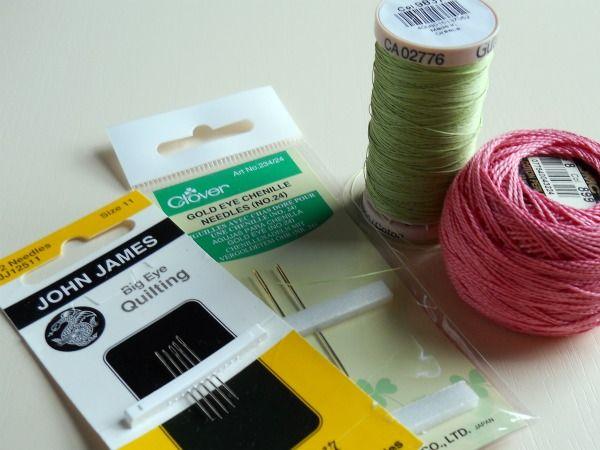hand quilting needles & threads
