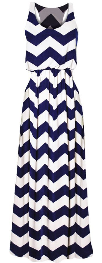 Racer back is a plus. Don't love the print but the style, cut and length of dress I do like.