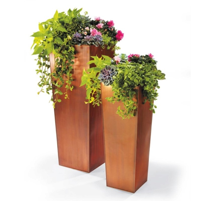 Column Planters 33 Quot And 42 Quot Tall From Grandinroad Com