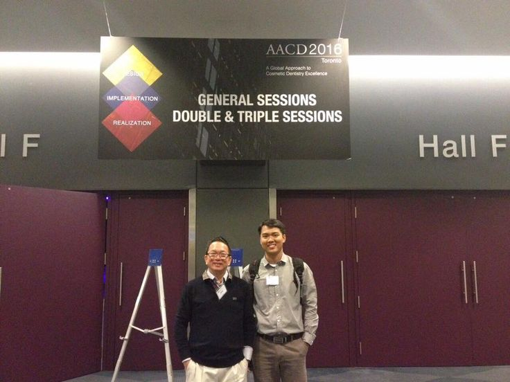 Do Dinh Hung DDS.PhD with Dr Nguyen Hoang Loc at the AACD 2016 (American Academy of Cosmetic Dentistry) - Toronto, Canada.