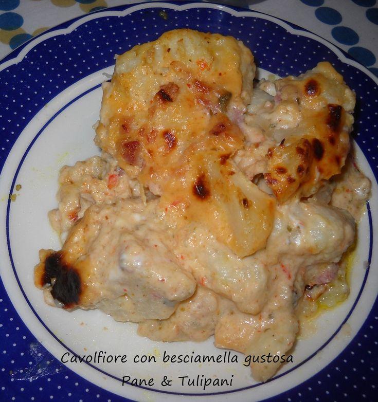 Cavolfiore con besciamella gustosa http://blog.cookaround.com/vincenzina52/cavolfiore-con-besciamella-gustosa/