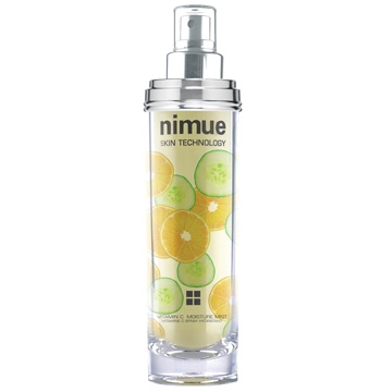 :: Nimue Skin Technology ::  Vitamin C Moisture Mist  A skin treatment mist based on a unique natural UVA sunscreen active, Phyto endorphins and Antioxidants. The ideal anti tiredness treatment for happiness that you can see and feel. Skin benefits - cellular rejuvenation, hydration and protection against light induced skin ageing. A refreshing and invigorating skin experience and aroma derived from natural extracts of cucumber, lemon and orange. Natural and safe UVA protection for everyday…