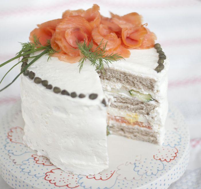 Smörgåstårta: Swedish Sandwich Cake -Where have you been all my life?-