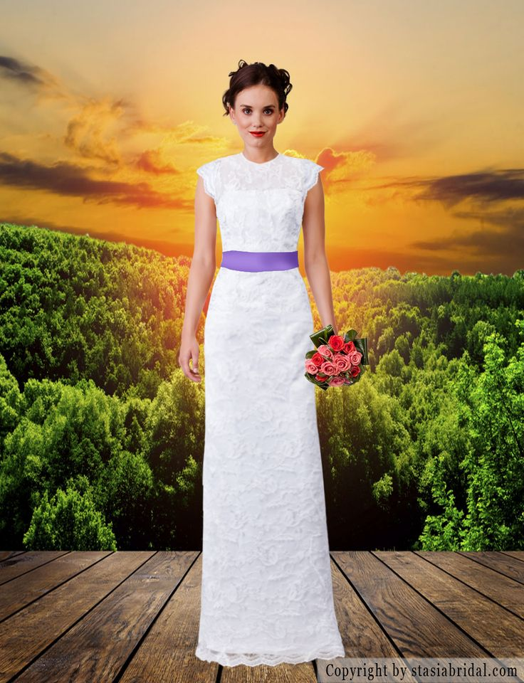 Custom made modest wedding dress with sleeves. Modest wedding gown. Designer: Stasia Modest Couture. All gowns made in the USA!  #templeready #modestishotest #tznius #tzniut #kallah #muslimbride #muslimweddingdress #ldsbride #mormonbride #weddingdresswithsleeves