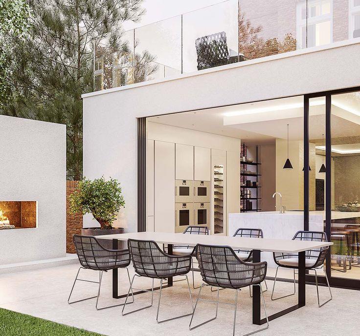 Bar Innenausstattung, Wohnen Im Freien, Leben Unter Freiem Himmel,  Gartenentwürfe, Erweiterungen, Terrasse, Moderne Gartenmöbel