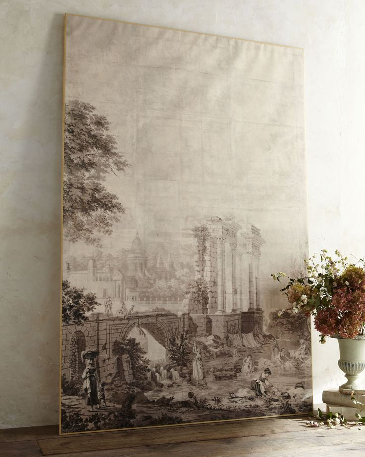 Tara Shaw - Italian Grisaille Panel from Horchow (2895.00) 53.75Wx81.75H   Italian Grisaille Panel
