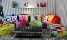 2016 Modern Renkli Köşe Koltuk Takımları