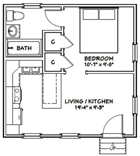 20x20 Tiny House 1 Bedroom 1 Bath 400 Sq Ft Pdf Floor Etsy In 2020 Small Apartment Floor Plans Floor Plans Studio Floor Plans