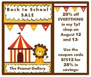 Save 28% in Back to School savings at my TpT shop on August 12 and 13 when you use the coupon code BTS12!: Language Art, Back To School
