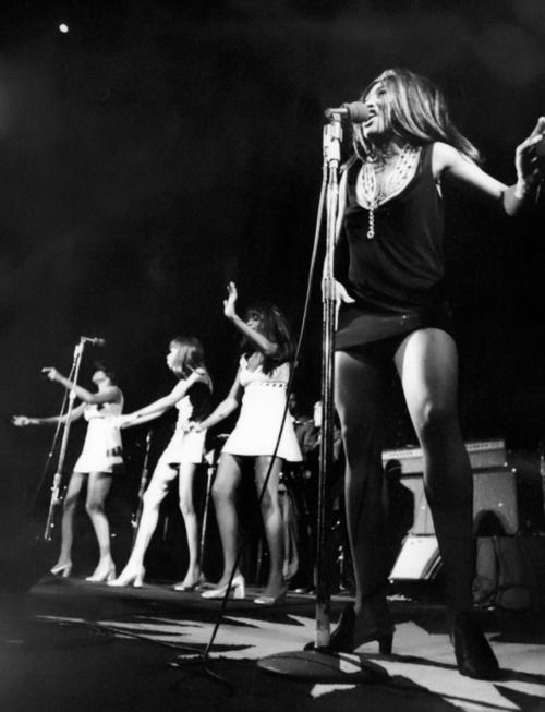 Ike & Tina Turner opening for The Rolling Stones at Madison Square Garden, New York City, November 27th, 1969.