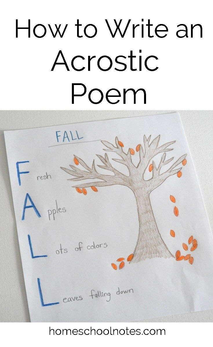 How to write an acrostic poem poems kids writing